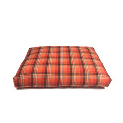 Relaxing Cushion - Orange Check