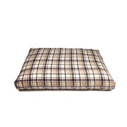 Relaxing Cushion - Beige Check