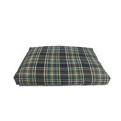 Relaxing Cushion - Dark Green Check