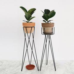B.화분스탠드(H)+소피아 고무나무 이태리 토분 세트