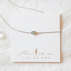 빛의 오로라- 오팔 Necklace (10월 탄생석)