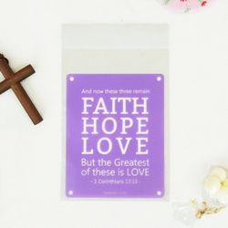 선물포장비닐 (접착식 20매) Faith Hope Love