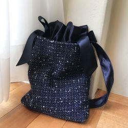 Tweed bag (NAVY)