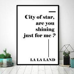 LALA LAND 레터링 - 감성글귀  포스터 (A4)
