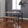 이튼 4인 테이블 세트 1400 (테이블+벤치)