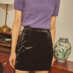 unique velvet mini skirt
