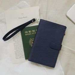 D.LAB  DH88 (안티스키밍) Passport Wallet - Navy