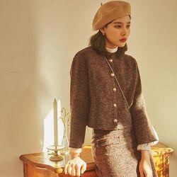 last cutting tweed wool skirt