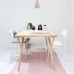 원목 라인 테이블140
