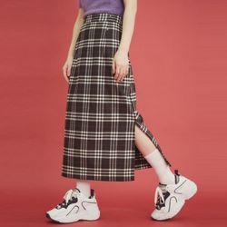 check slit midi skirt (2 color)