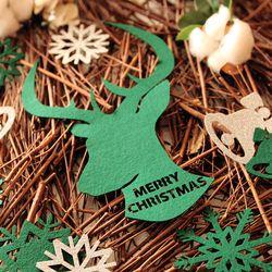 크리스마스 월데코장식-사슴(그린)