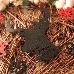크리스마스 월데코장식-사슴(블랙)