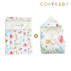 [무료배송] [CONY]오가닉사계절겉싸개이불요세트(신생아차렵이불)