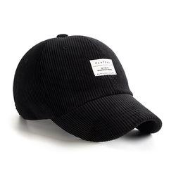 BASIC CODU CAP BLACK 코듀로이 볼캡