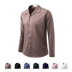 남성 오픈 버튼다운 컬러 긴팔 셔츠 ALLS1002