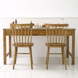 보르도 원목 1500 식탁세트 (의자2)