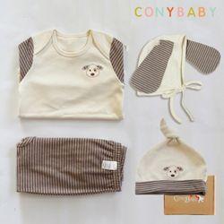 [무료배송/선물박스증정] [CONY]오가닉강아지띠맞이선물세트(의류3종+묶음모자)