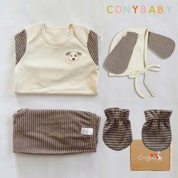 [무료배송/선물박스증정] [CONY]오가닉강아지띠맞이선물세트(의류3종+손싸개)