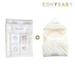 [무료배송] [CONY]오가닉꿀잠겉싸개이불요세트(신생아차렵이불)