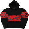 [1200g] Heavy overfit block hood black&black