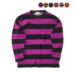 Vintage Fluffy Stripe T-shirt(6color)(unisex)