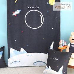 포토존 우주여행 가리개커튼 100x140