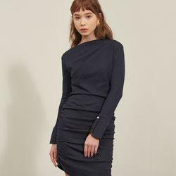 [살롱드욘]Shirring Dress Dots