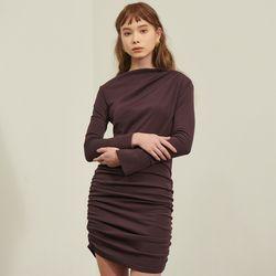 [살롱드욘]Shirring Dress Brown