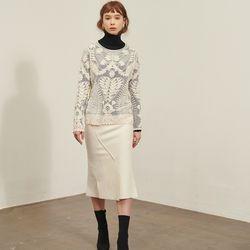[살롱드욘]Buntto Stitching Skirt 4colors