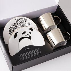 [LUYCHO] 원형 Short Gift Set  - Leopard+Panda