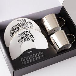 [LUYCHO] 원형 Short Gift Set - Leopard+Tiger