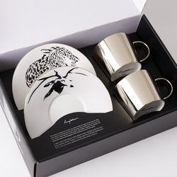 [LUYCHO] 원형 Short Gift Set - Leopard+Sika Deer