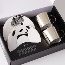 [LUYCHO] 원형 Short Gift Set - Zebra+Giant Panda