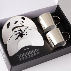 [LUYCHO] 원형 Short Gift Set - Panda+Sika Deer