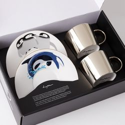 [LUYCHO]원형 Short Gift Set-Baby Penguins+Whale(G)