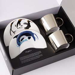 [LUYCHO] 원형 Short Gift Set - Penguins+Whale(G)