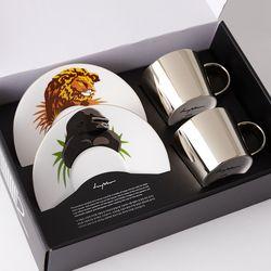 [LUYCHO] 원형 Short Gift Set - Lion+Gorilla