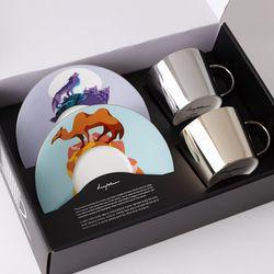 [LUYCHO] 원형 Short Gift Set - Gray Wolf+ Camel