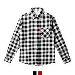 남자셔츠 기모 깅엄 체크 남방