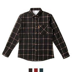 남자셔츠 기모 타탄 체크 남방