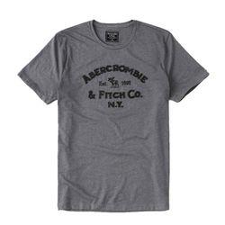 아베크롬비 로고 반팔 티셔츠 2281120 다크그레이