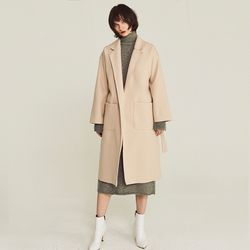 LINED WOOL WRAP COAT (IVORY)