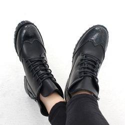 [쿠루] 5.5cm 윙팁 스타일 스터드 워커 HS-HD910찡