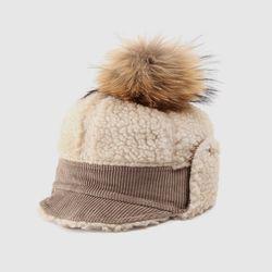 [로코식스] raccoon pompom hat모자
