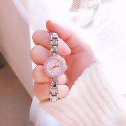 [디자인시계] 라템 원형 블링 팔찌 시계 (3colors)