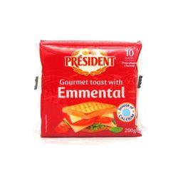 [치즈파티] 프레지덩 토스트 에멘탈 슬라이스 200g