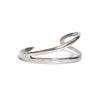 curved cuff - silver
