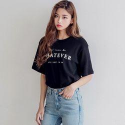 [로코식스] whatever lettering T티셔츠