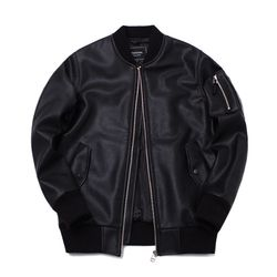 MANTANA LEATHER MA-1 JUMPER BLACK