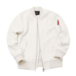MANTANA LEATHER MA-1 JUMPER WHITE